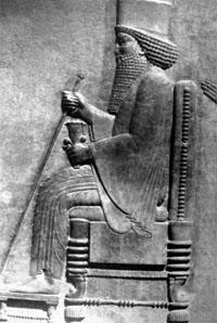 xerxes throne