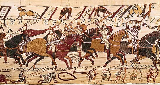 scene from bayeux tapestry