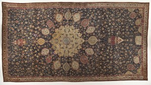 ardabil carpet now in LA country museum