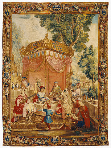 emperor of china series tapestry in getty museum