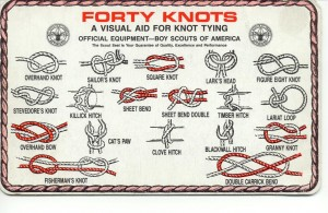 forty boy scout knots