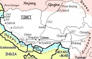 tibet and surrounding countries