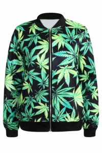 marijuana baseball jacket