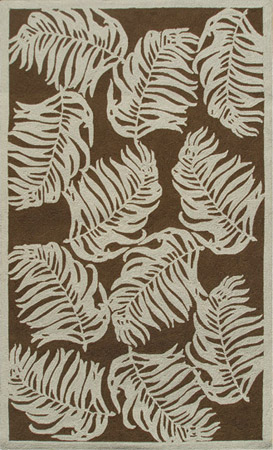 stylized tobacco leaf rug