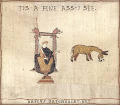 Bayeux tapestry humor: Fine ass I see